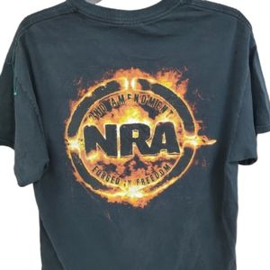 NRA Unisex Tshirt with Forged in Freedom Back Logo